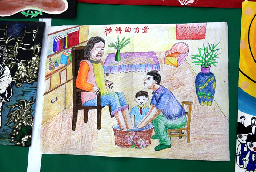 儿童积极向上的画-成都举行 图说价值观 童心绘文明 校园绘画创评活动
