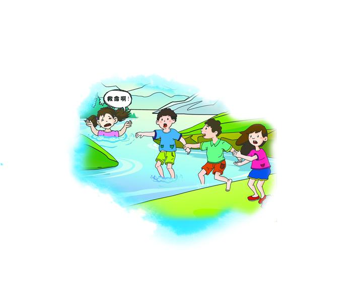 儿童手绘防溺水图