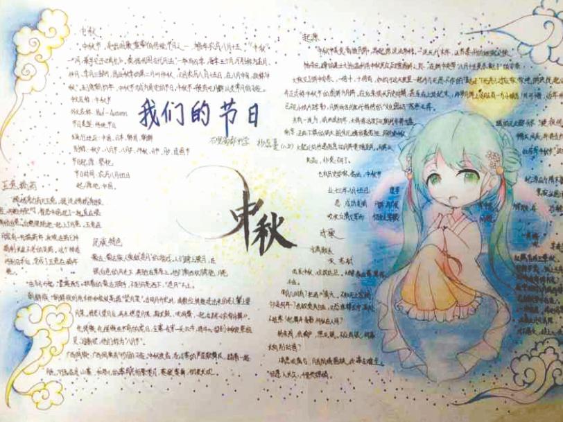 成都2015中秋国庆主题获奖 节日小报 作品出炉