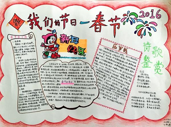 春节节日小报