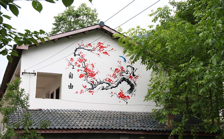 成都彭州打造核心价值观主题壁画群